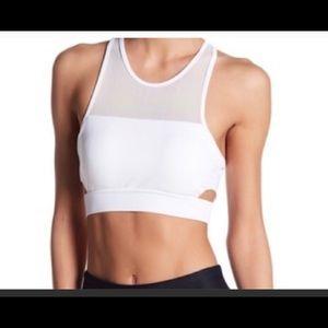 Sam Edelman side cut-out sports bra/crop top